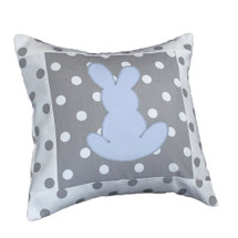 MOXY BLUE  Bunny Applique Nursery Pillow