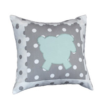 MOXY AQUA Lammy Applique Nursery Pillow