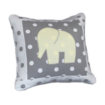 MOXY LEMON  Elephant Applique Nursery Pillow