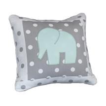 MOXY AQUA  Elephant Applique Nursery Pillow
