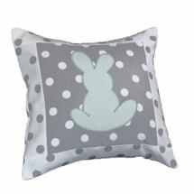 MOXY AQUA  Bunny Applique Nursery Pillow