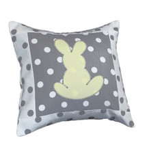 MOXY LEMON  Bunny Applique Nursery Pillow