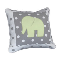 MOXY KIWI  Elephant Applique Nursery Pillow
