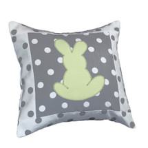 MOXY KIWI Bunny Applique Nursery Pillow
