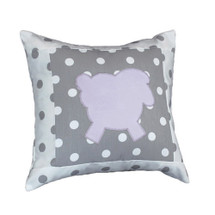 MOXY LILAC Lammy Applique Nursery Pillow