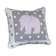 MOXY LILAC  Elephant Applique Nursery Pillow