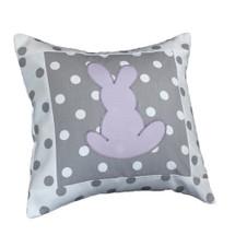 MOXY LILAC Bunny Applique Nursery Pillow