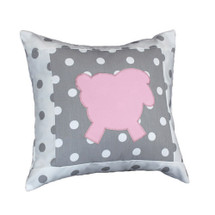 MOXY PINK Lammy Applique Nursery Pillow