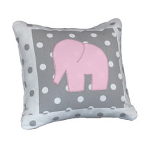 MOXY PINK  Elephant Applique Nursery Pillow