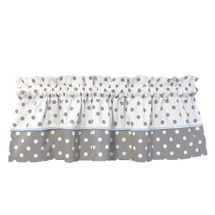 "MOXY BLUE 104"" Panel Nursery Valance"