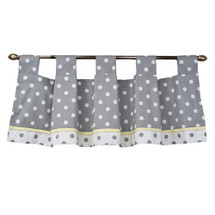 "MOXY LEMON 52"" Tab Top Nursery Valance"