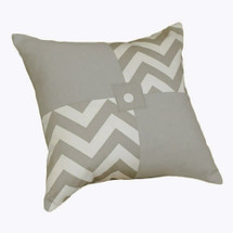 SIMPLY GREY Patch Decor Nursery Pillow