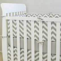 SIMPLY GREY Baby Crib Bumper Pads