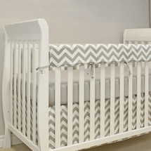SIMPLY GREY Baby Crib Rail Protector