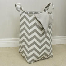 SIMPLY GREY Clothes or Toy Nursery Hamper