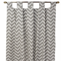 SIMPLY GREY Long Nursery Drapes (Set of 2)