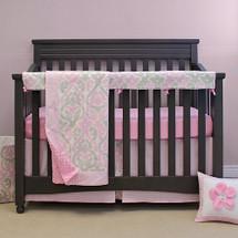 "PINK JULEP ""Premium"" 4 PC Set Crib Bedding - includes Crib Rail Protector"
