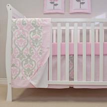 PINK JULEP 3 PC Set Crib Bedding - Bumperless