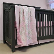 """PINK JULEP """"Premium"""" 3 PC Set Crib Bedding - Bumperless"""