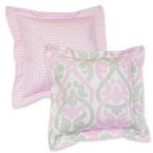 PINK JULEP Flange Decor Pillow