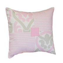 PINK JULEP Patch Decor Pillow