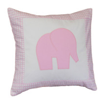 PINK JULEP Elephant Applique Pillow