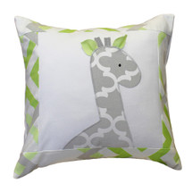 KEEWEE Pillow with Giraffe Applique