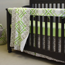 "KEEWEE ""Premium"" 4 PC Set Crib Bedding - Includes Crib Rail Protector"