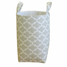 Grey fabric clothes hamper