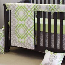 KEEWEE Crib Bedding Set with Crib Rail Protector