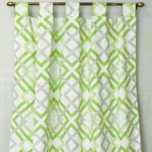 KEEWEE Long Nursery Drapes Kiwi Diamond (set of 2)