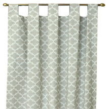 KEEWEE Long Nursery Drapes Pewter Trellis (Set of 2)