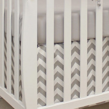 SIMPLY GREY 2 PC Set Crib Bedding