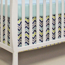 CHEVRON NAVY 2 PC Set Crib Bedding