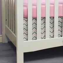 CHEVRON PINK 2 Piece Crib Set