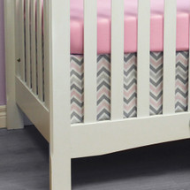 CHEVRON PINK 2PC Set Crib Bedding