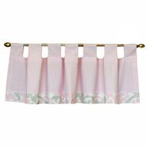 """PINK JULEP Nursery Valance - Tab Style 60"""""""