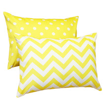 Yellow Dot or Chevron Pillow