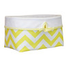 Yellow Chevron fabric basket