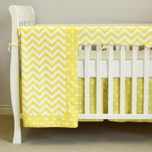 SIMPLY SUNNY 4PC Set Baby Bedding - includes Crib Rail Protector