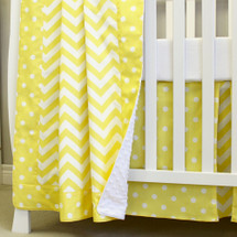 Baby blanket in Yellow Dots and Chevron