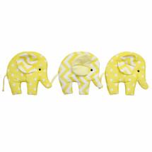 Yellow elephant soft wall art