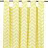 Yellow Chevron long drapes