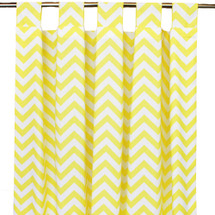 Yellow Chevron long drapes