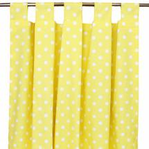 Yellow Dot long drapes