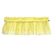 "Yellow Dot 60"" window valance"