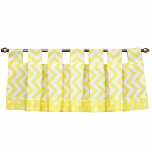 "Yellow Chevron 60"" tab valance"