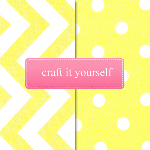 Craft fabric bundle in Yellow Dots and Chevron