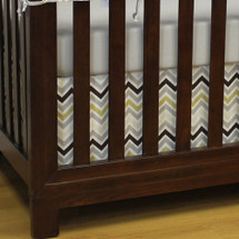 CHEVRON GREY 2 Piece Crib Set