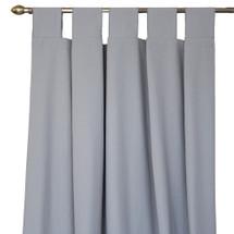 Solid grey long drapes